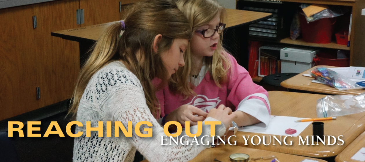 K-12 students exploring STEM during a Student Role Model Visit